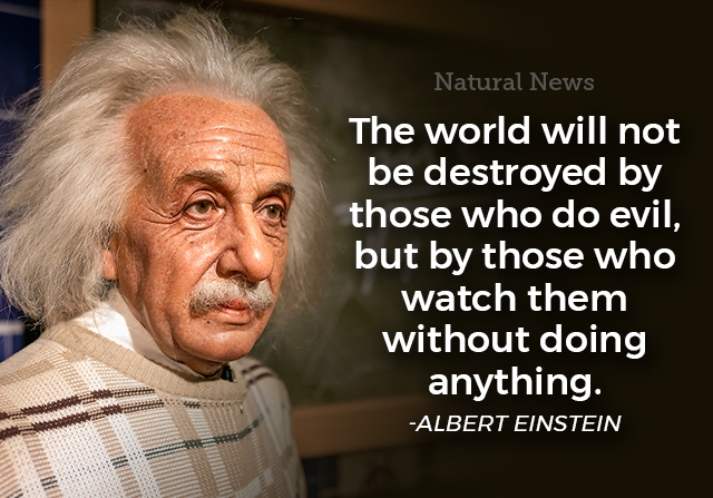 The world will not be destroyed by those who do evil, but by those...
