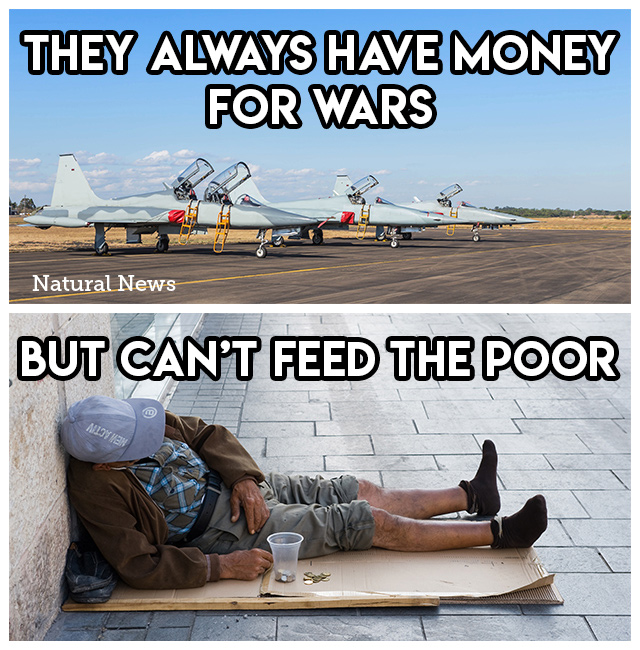 They always have money for wars...