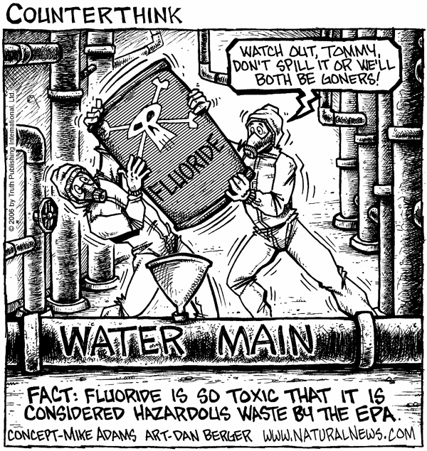 As Mike Adams explains, all dentists, doctors and government health 'authorities,' who actually promote the fluoridation of public water supplies are nothing less than clinically insane. (Go HERE, To Learn MORE!)
