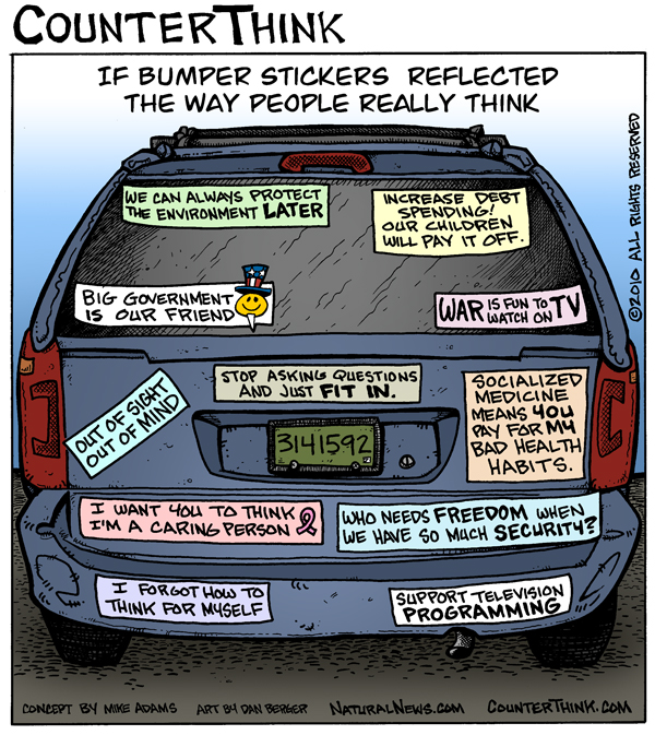 If bumper stickers reflected what people really think