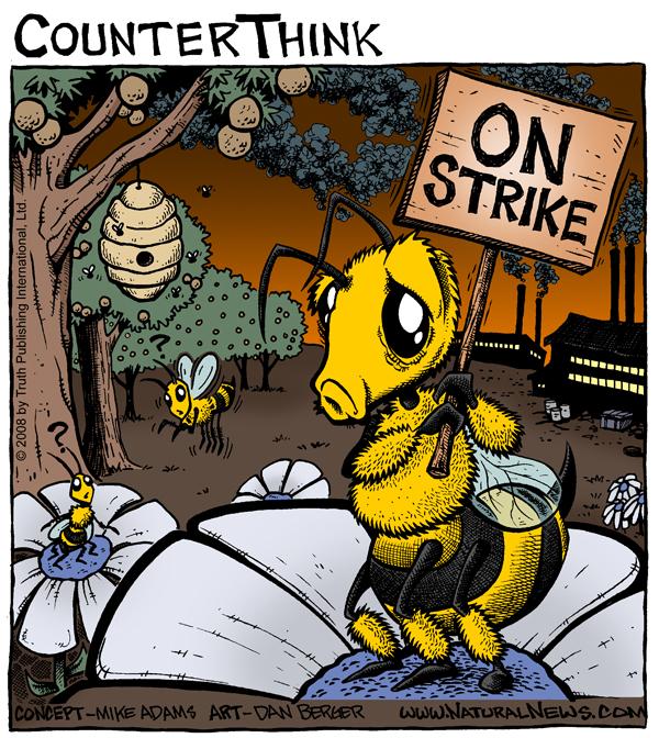 Honeybees Go on Strike