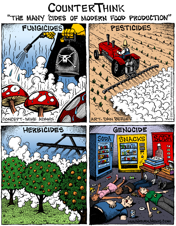 The many cides of modern food production