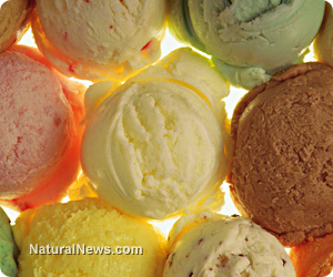 Vegetable-flavored ice cream
