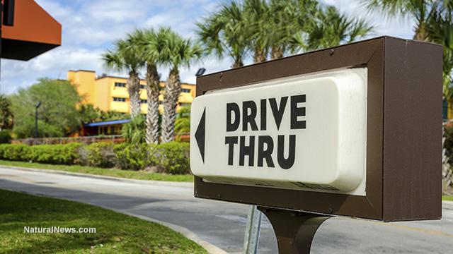 Drive-thru supermarket
