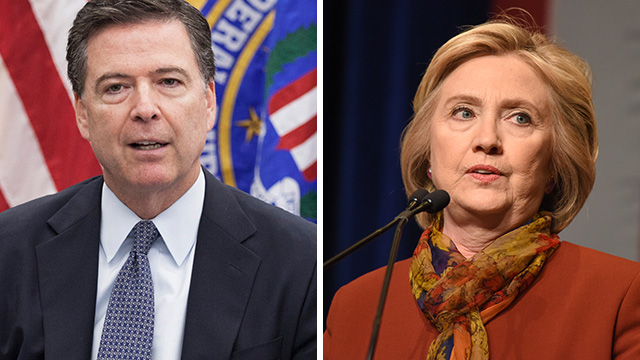 Image result for fbi comey clinton