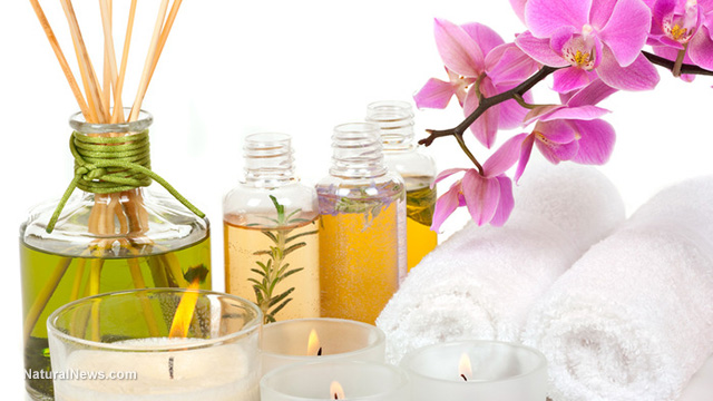how to use aromatherapy oils in a spa tent