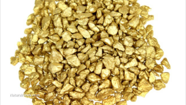 Gold particles
