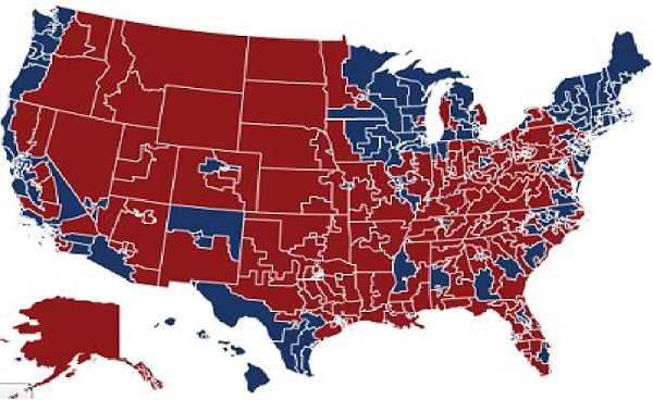 Why collectivism is doomed and the next great crisis will massively shift America toward conservatism Congressional dist map 2010 red blue