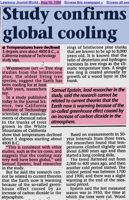 GLOBAL COOLING Is Coming And Were All DOOMED Warned NYT WashPost TIME Cal Tech The Entire MSM Throughout 1970s NaturalNews
