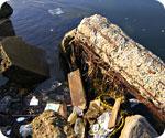 Floating garbage