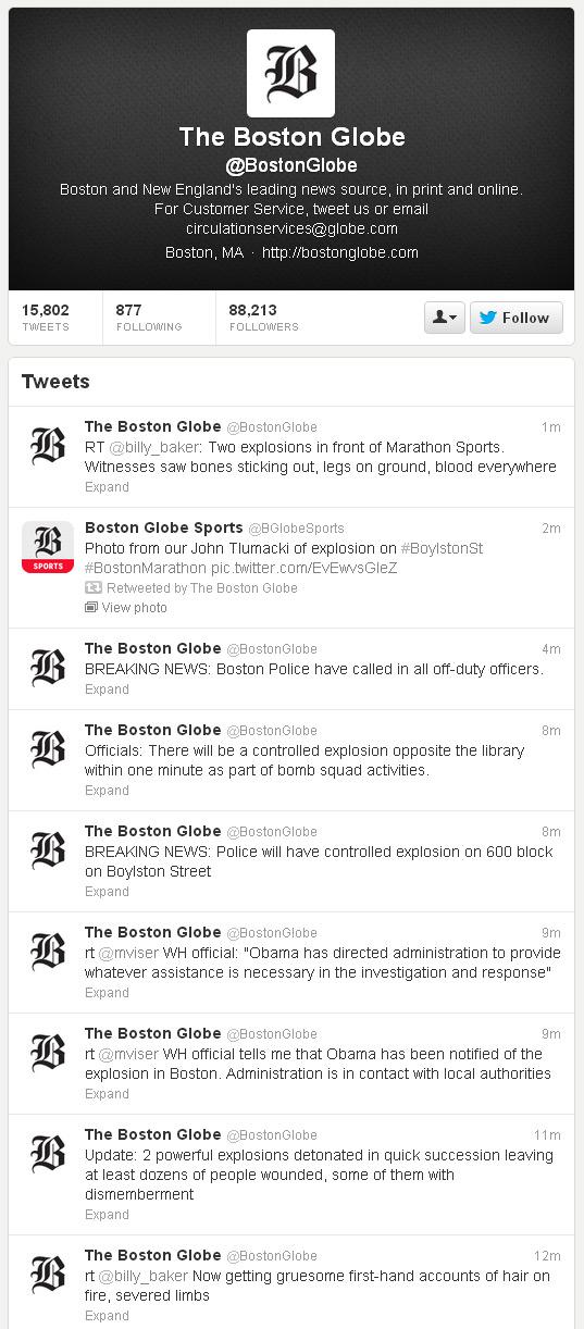 La policía de Boston avisó en Twitter que explotaría una bomba