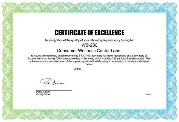 health ranger s analytical laboratory just awarded certificate of