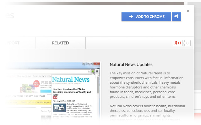 How to install the Natural News Toolbar for Google Chrome