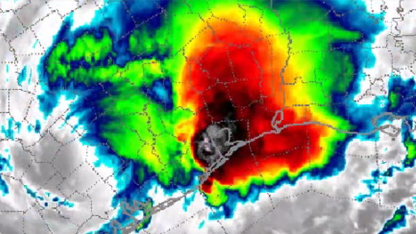 WeatherWar101 posts new analysis video of Hurricane Harvey, appearing to show artificial augmentation of the storm's intensity and movements Hurricane-Harvey-Refueled-600