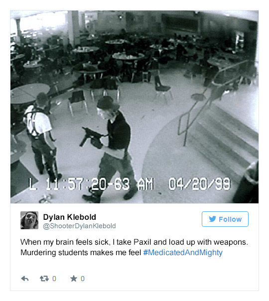 School Shooters Rise From The Dead To Tweet Their Support