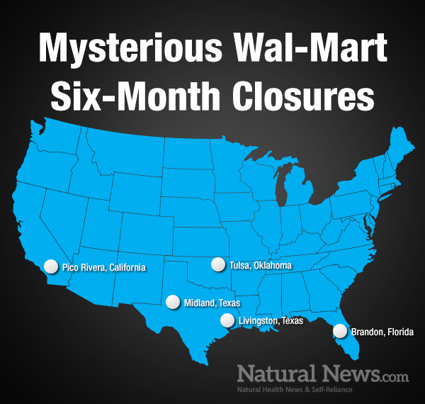 Mystery Surrounds WalMarts Bizarre Cover Story Of Closing Five - Map of walmarts in us