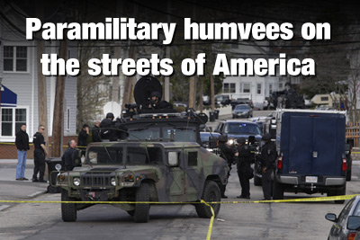 Militarized police gone wild across America; terrorizing citizens, shooting pet dogs Paramilitary Humvees Streets of American 400