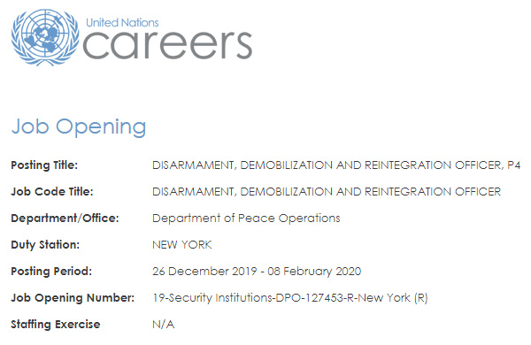 """UN Hiring """"Disarmament Officers"""" to Conduct """"Field Missions"""" in New York as UN Occupation Plan for America Goes LIVE"""