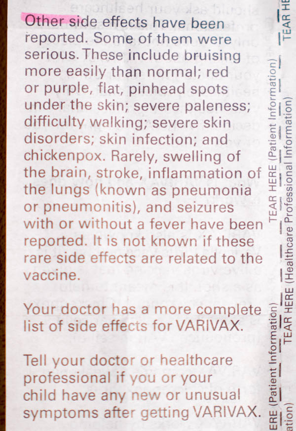 vaccine ingredients side effects