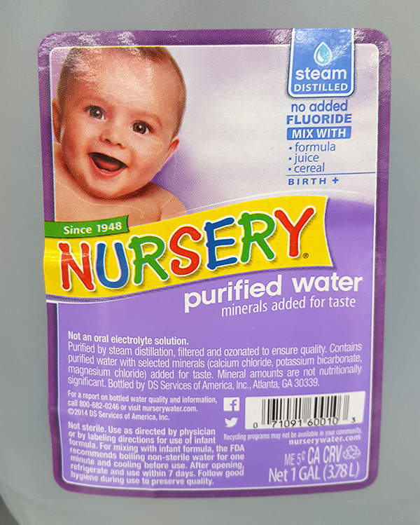 Nursery Purified Water With Added Fluoride Thenur