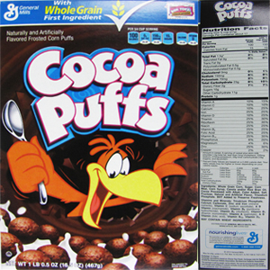 The top 10 breakfast cereals most likely to contain Monsantos GMO corn Cocoa Puffs