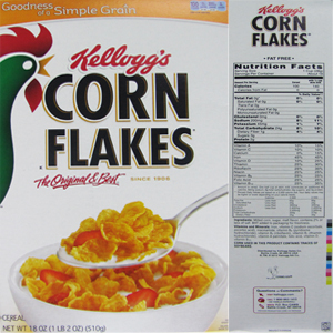 The top 10 breakfast cereals most likely to contain Monsantos GMO corn Kelloggs Corn Flakes