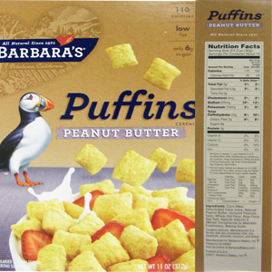 The top 10 breakfast cereals most likely to contain Monsantos GMO corn Puffins Peanut Butter