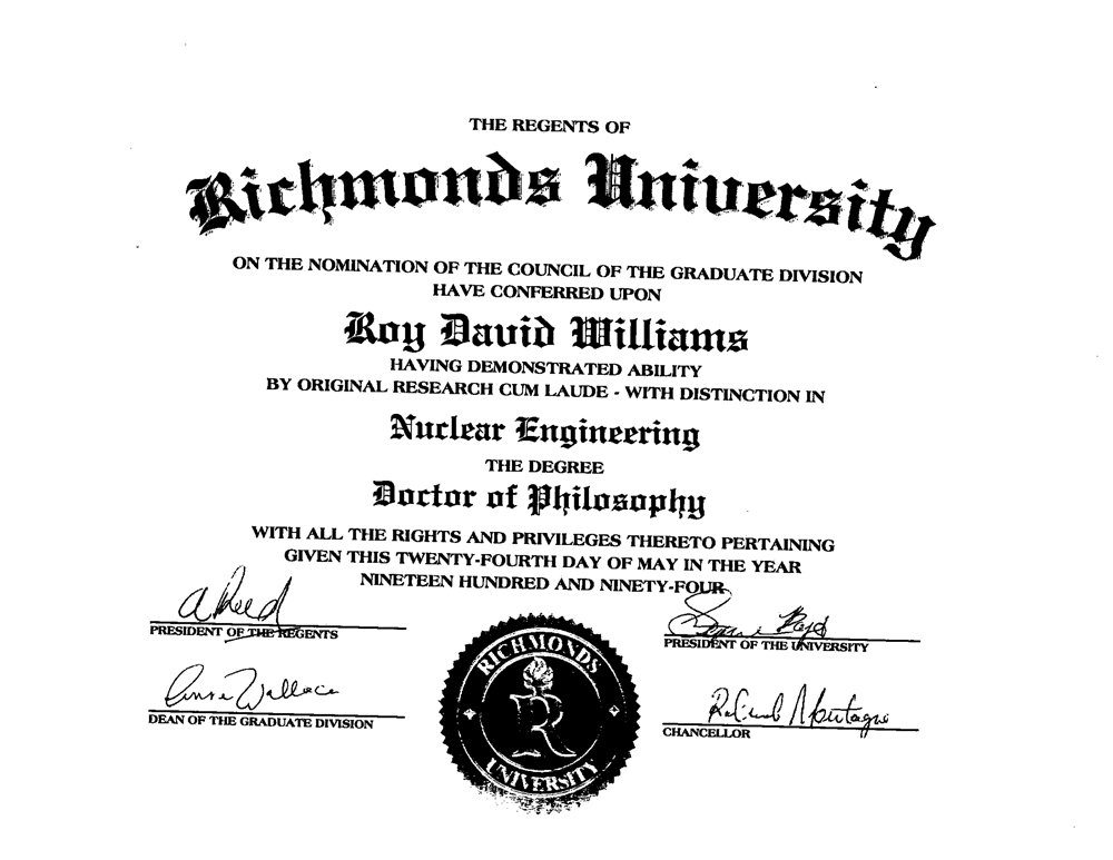 Phd degree doctor