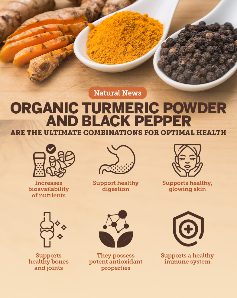 Organic turmeric powder with black pepper is the ultimate