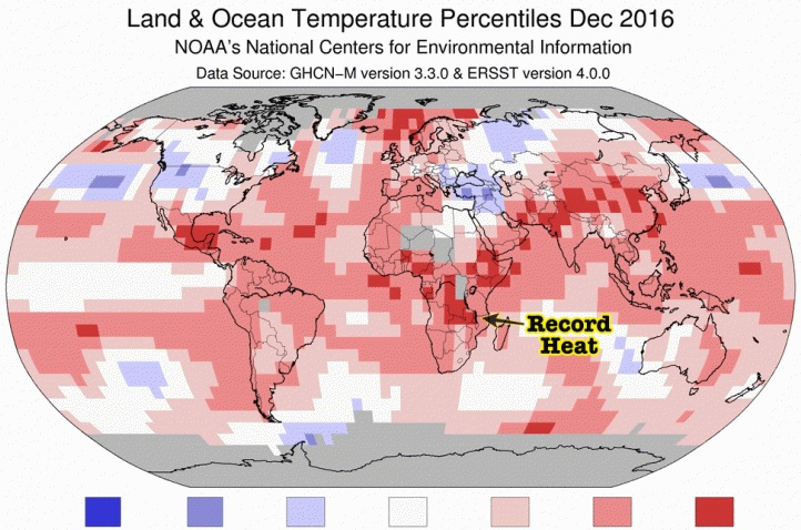 "Image: Global warming world map based largely on ""fake science"" … NOAA caught in blatant temperature data fraud"
