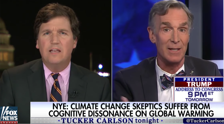 "Image: Bill Nye earns an ""F"" in climate change science… can't even answer basic questions on live TV"