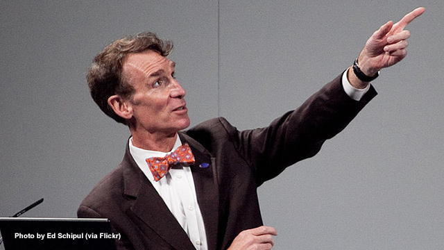 "Image: FACT CHECK: Bill Nye is a mechanical engineer, not ""Climate Change"" specialist"