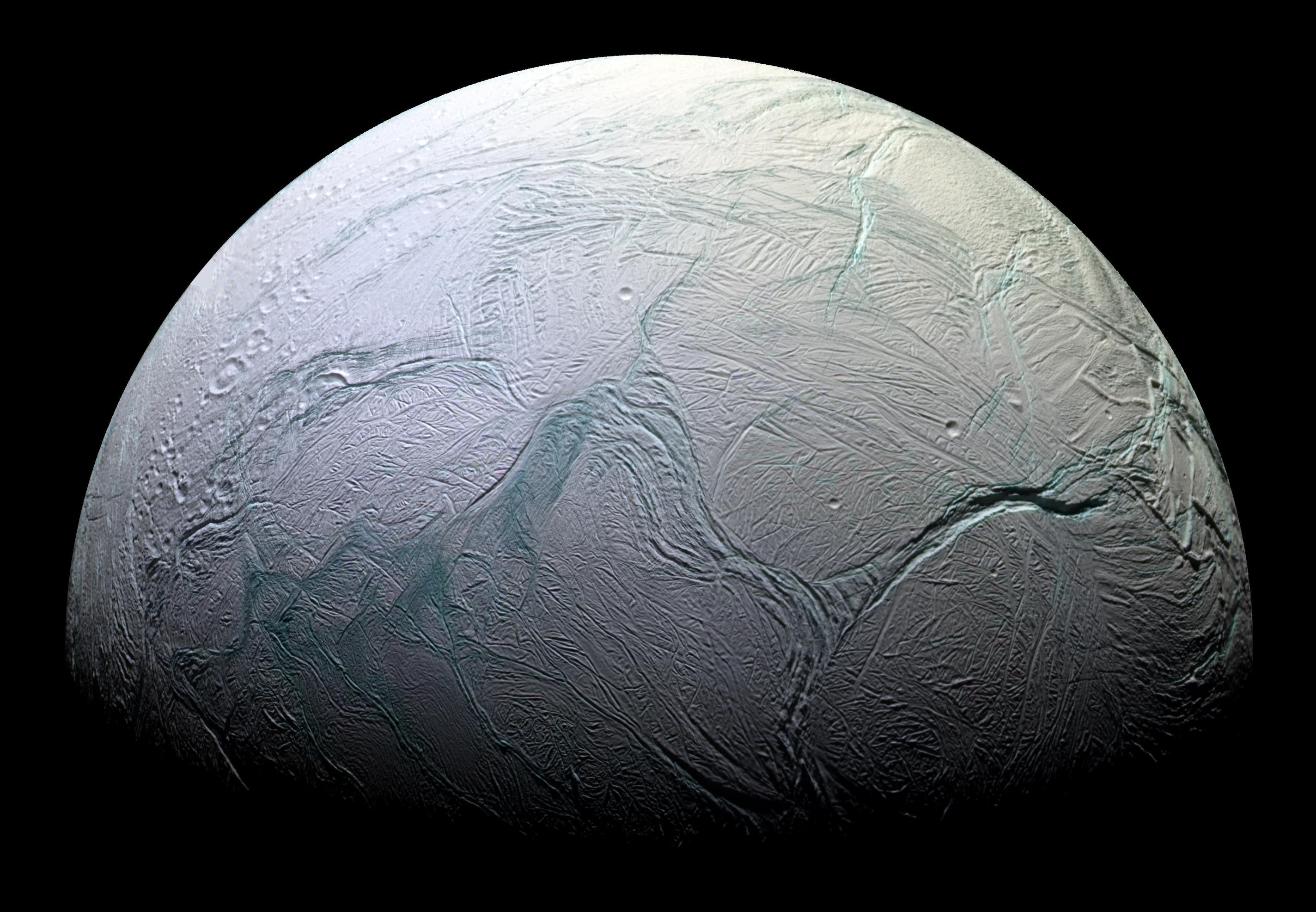 Image: NASA scientists quietly announce that Enceladus, a Saturn moon, can support life