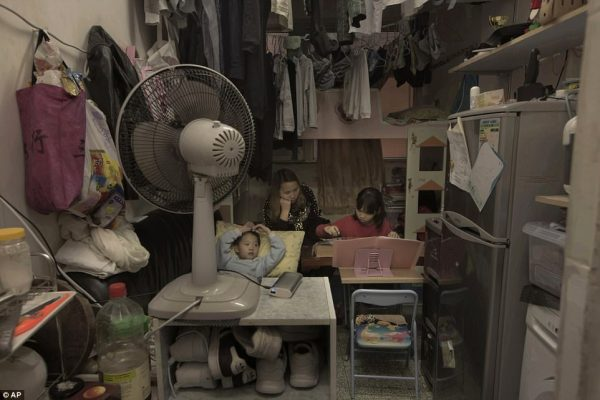 "Image: Hong Kong now renting out ""coffin homes"" that have less than 120 square feet of living space"