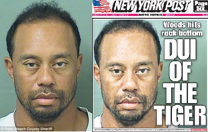 "Image: Tiger Woods gets arrested for DUI, then says toxic ""mix of medications"" made him drive like a dangerous maniac… what if he's RIGHT?"