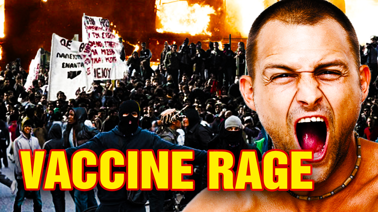 "Image: ""VACCINE RAGE"" phenomenon may explain global increase in anger, violence and insanity"