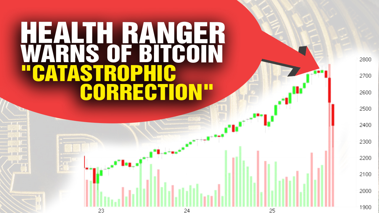"Image: Bitcoin plummets nearly $400 just HOURS after Health Ranger warned of ""catastrophic correction"""