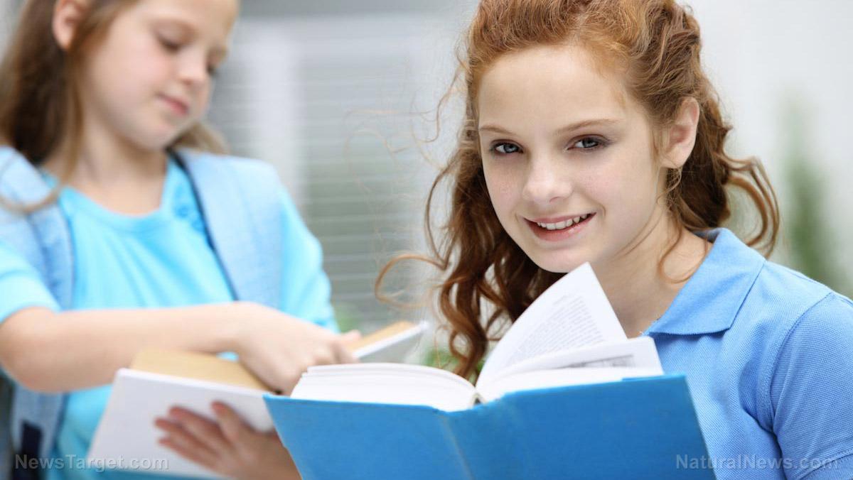 School-Books-Girls-Children-Study-Happy-