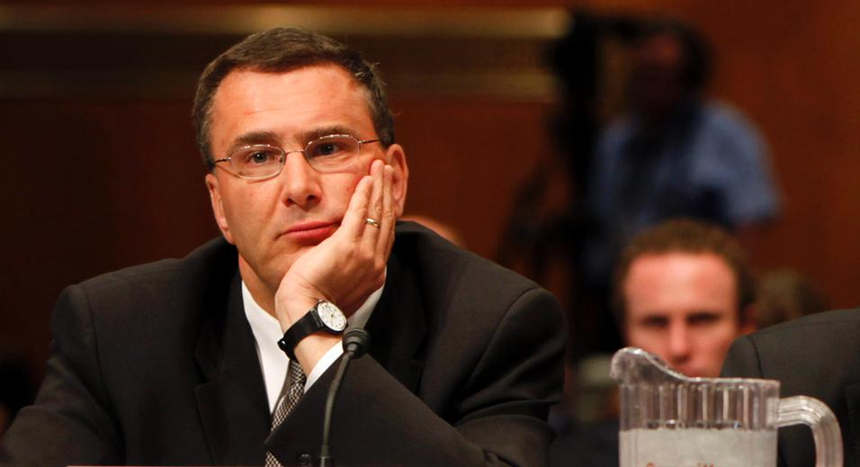 Image: The lying cretin who served as the Obamacare architect has lost a job over fraudulent billing allegations