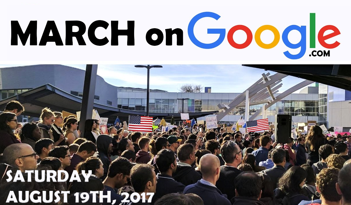 Image: Nationwide #MarchOnGoogle announced for Saturday, August 19th, across 9 U.S. cities