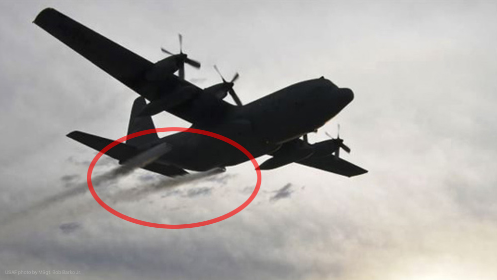 Image: Texas carpet bombs its own hurricane-traumatized victims with neurological poisons sprayed from military planes