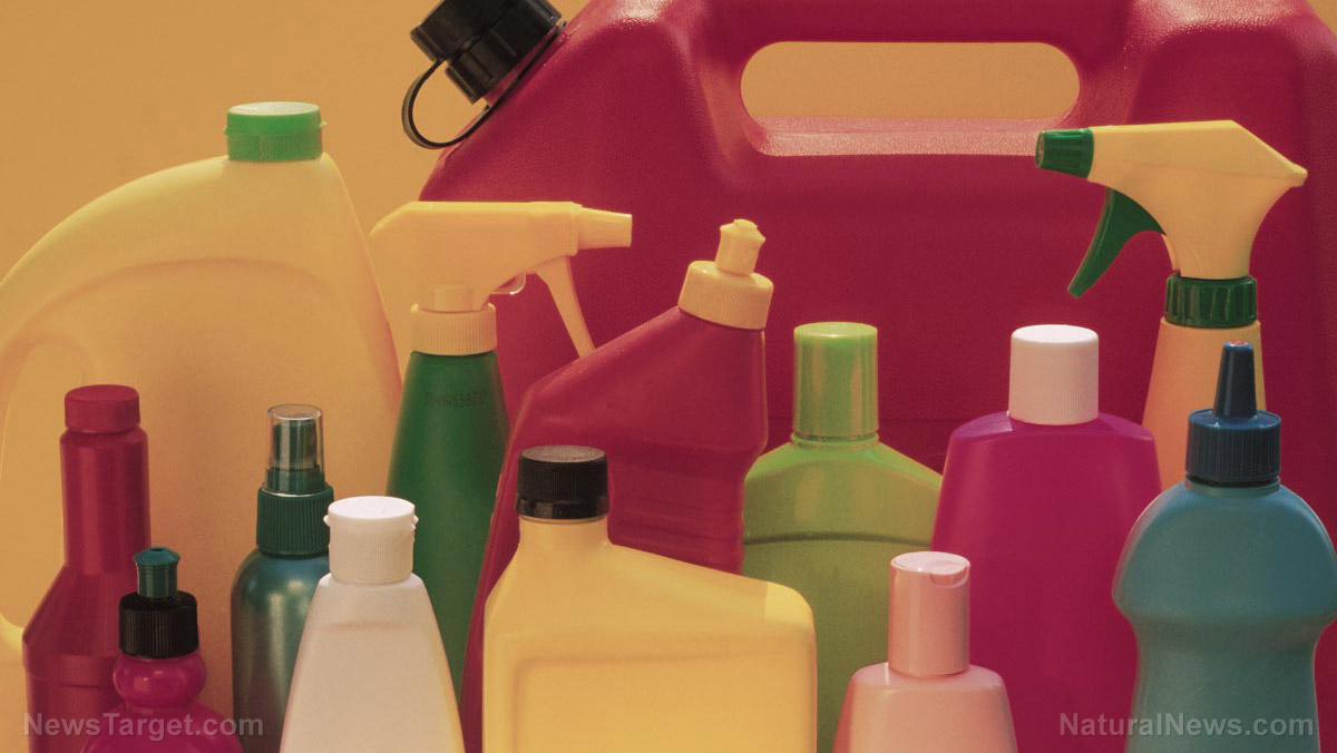 "Image: Many cleaning products, especially those billed as ""antibacterial,"" contain toxic chemicals that cause physical damage"