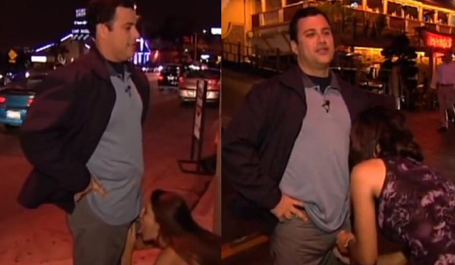 Image: Jimmy Kimmel tells women to feel his crotch and guess what's in his pants… street video surfaces… is Kimmel the next Weinstein?