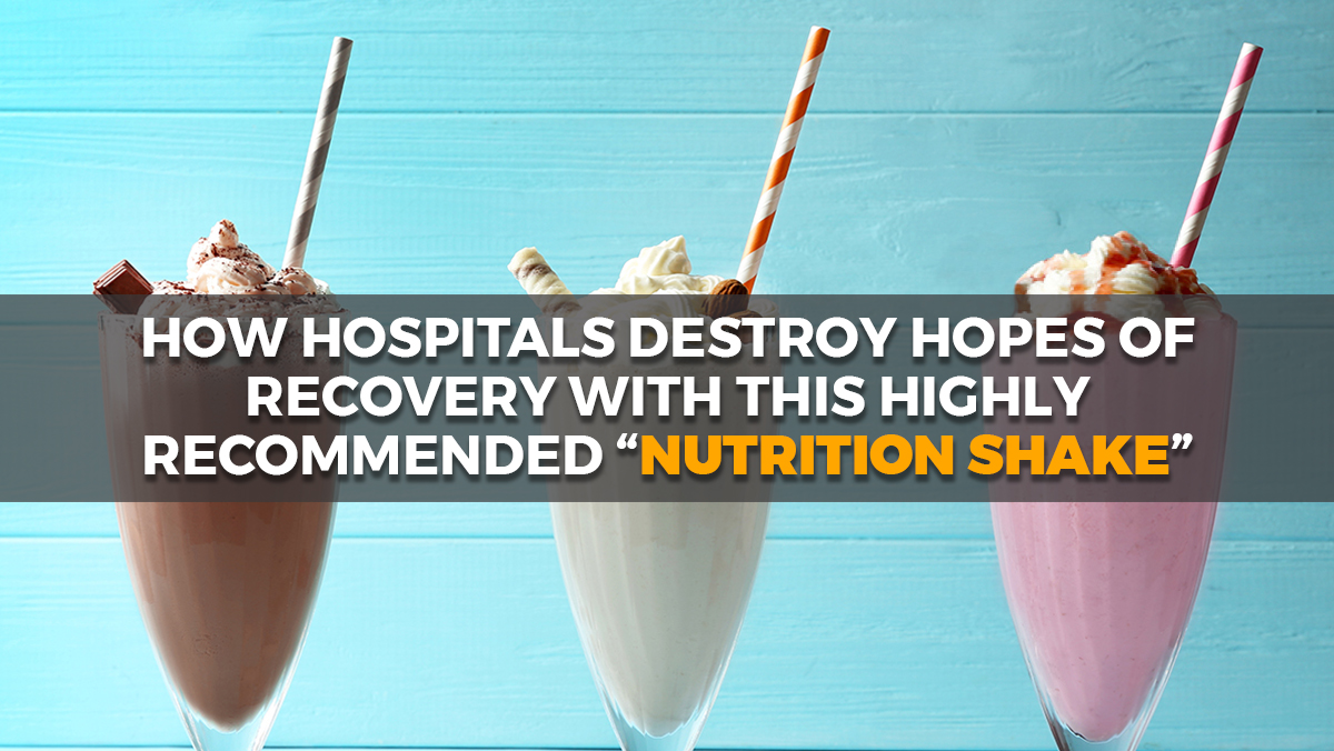 "Image: How hospitals keep their patients sick by feeding them Ensure, a ""junk food"" nutrition shake"