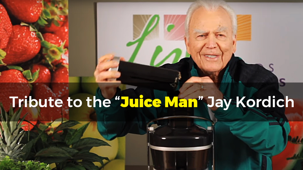 "Image: Tribute to the ""Juice Man"" Jay Kordich (podcast transcript)"