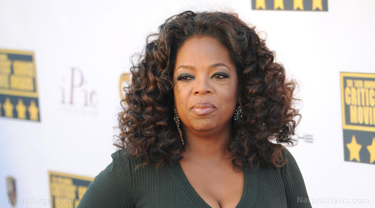 Image: Oprah is the perfect fit for bleeding heart liberals: Emotional speeches that distort reality while utterly lacking any real substance at all