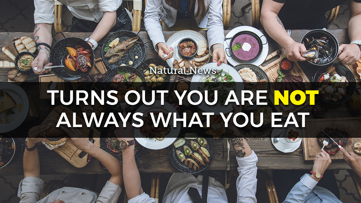 Image: Turns out you are NOT always what you eat