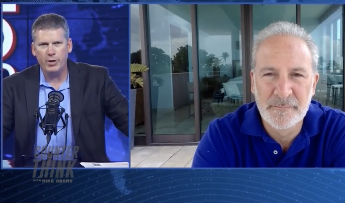 Image: Peter Schiff talks to the Health Ranger about rising risks to the U.S. economy, collapsing dollar