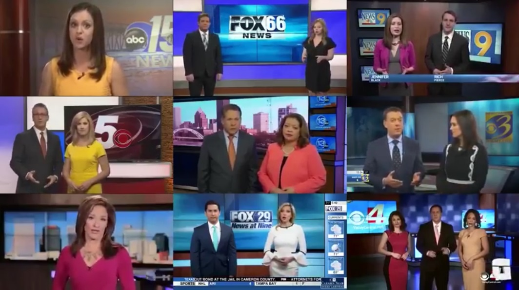 Image: Stunning video reveals how local news TV journalists are nothing but human puppets (presstitutes) reading propaganda scripts