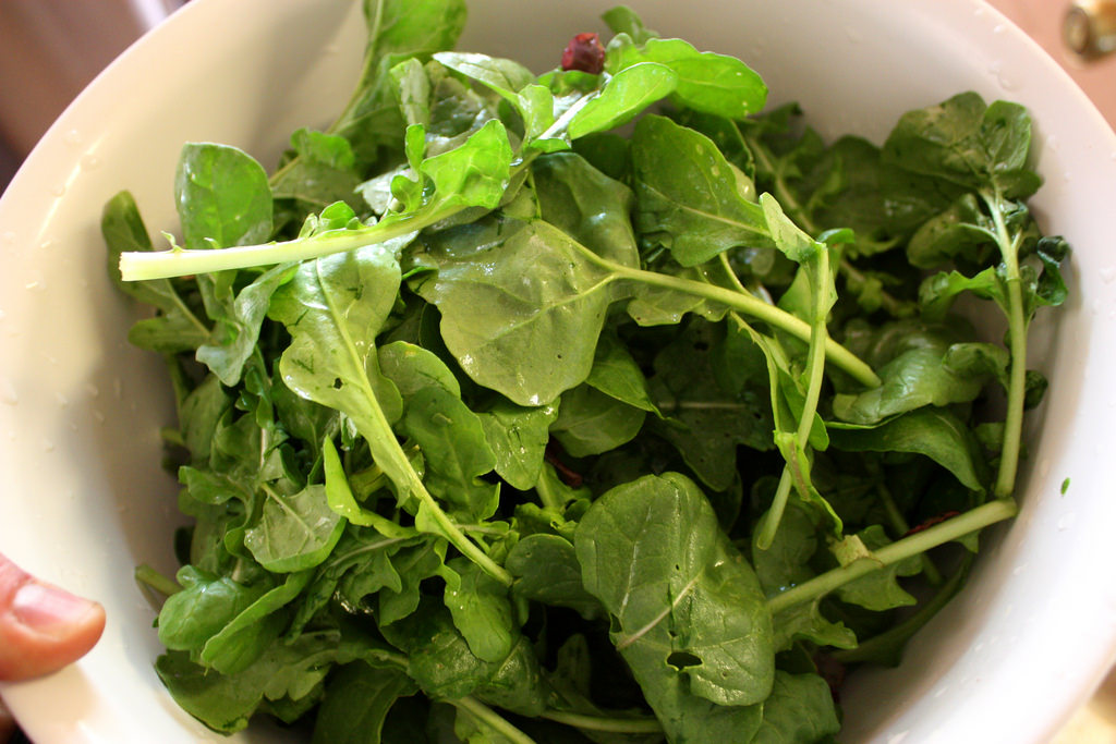 Image: Keep your heart healthy by eating more arugula, spinach, and beets
